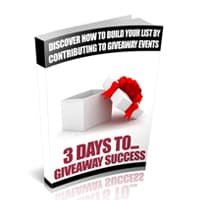 3 Days To Giveaway Success 1