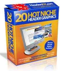 20 Hot Niche Header Graphics Version 2