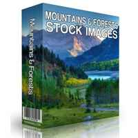 Mountains and Forests Stock Images 1