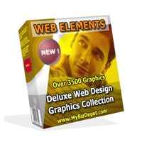 Web Elements Deluxe Web Design Graphics Collection