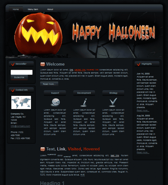 Halloween Pumpkin WP Theme