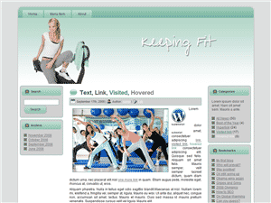 Keeping Fit Theme for WordPress and Blogger 3