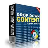 Drop Down Content Panel Maker