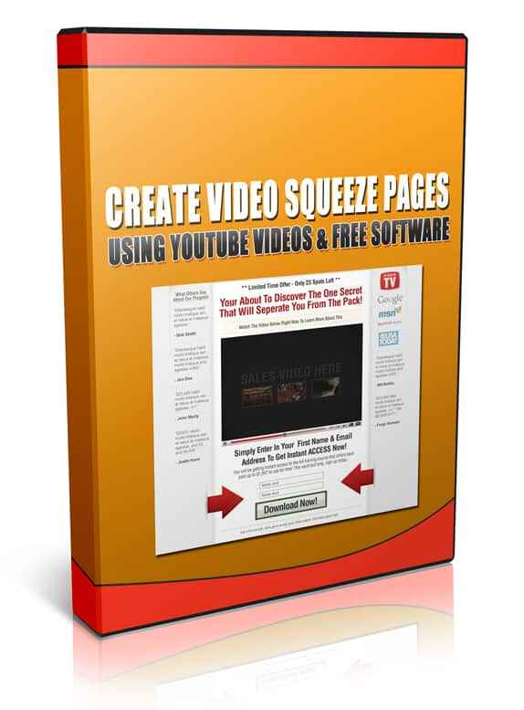 Create Video Squeeze Pages Using YouTube Videos